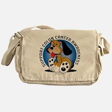 Colon-Cancer-Dog Messenger Bag