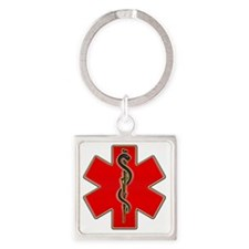 Red Cad copy Square Keychain