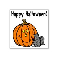 "happyhalloweenblack_squirre Square Sticker 3"" x 3"""