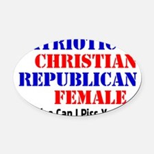 repubfemale Oval Car Magnet