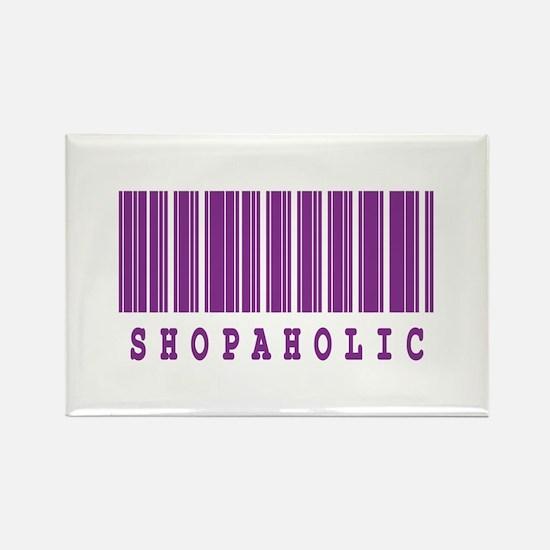 Shopaholic Barcode Design Rectangle Magnet