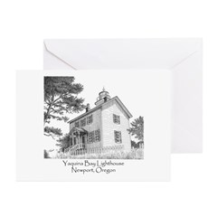 Yaquina Bay Lighthouse Greeting Cards (Package of