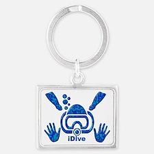 IDIVE 2010 FINS BLUES Landscape Keychain