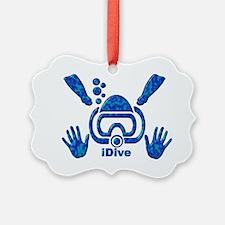 IDIVE 2010 FINS BLUES Ornament