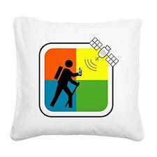 GeoCache Man Square Canvas Pillow