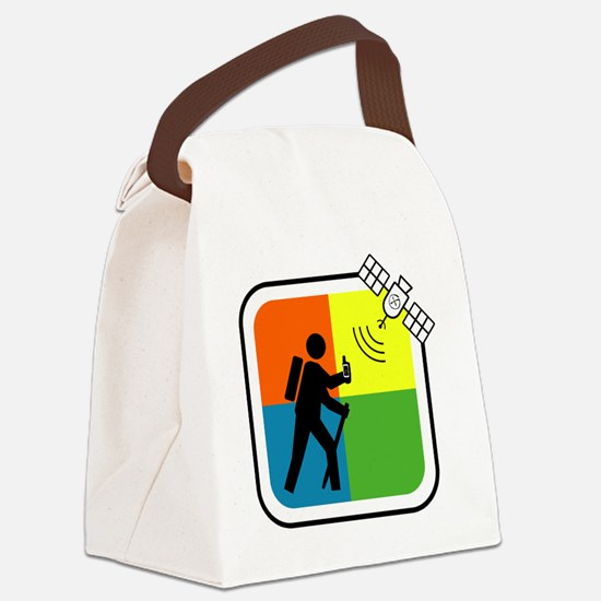 GeoCache Man Canvas Lunch Bag