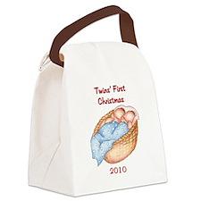 bg_ornament_oval_2010 Canvas Lunch Bag