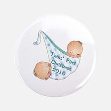 """boy_round_ornament_2010 3.5"""" Button"""