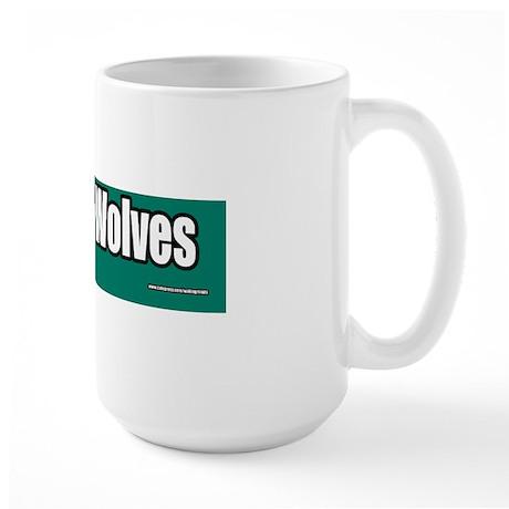Save-The-Wolves-Bumper-Sticker Large Mug