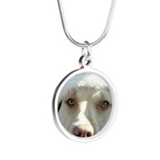 2-christmas lola Front Silver Round Necklace