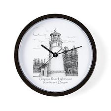 Umpqua River Lighthouse Wall Clock