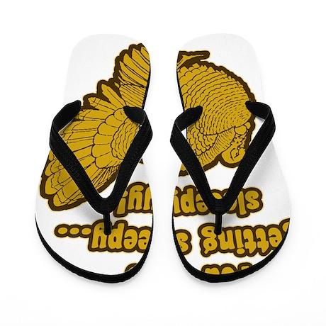 gettingsleepyDark Flip Flops