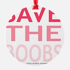Savetheboobs Ornament