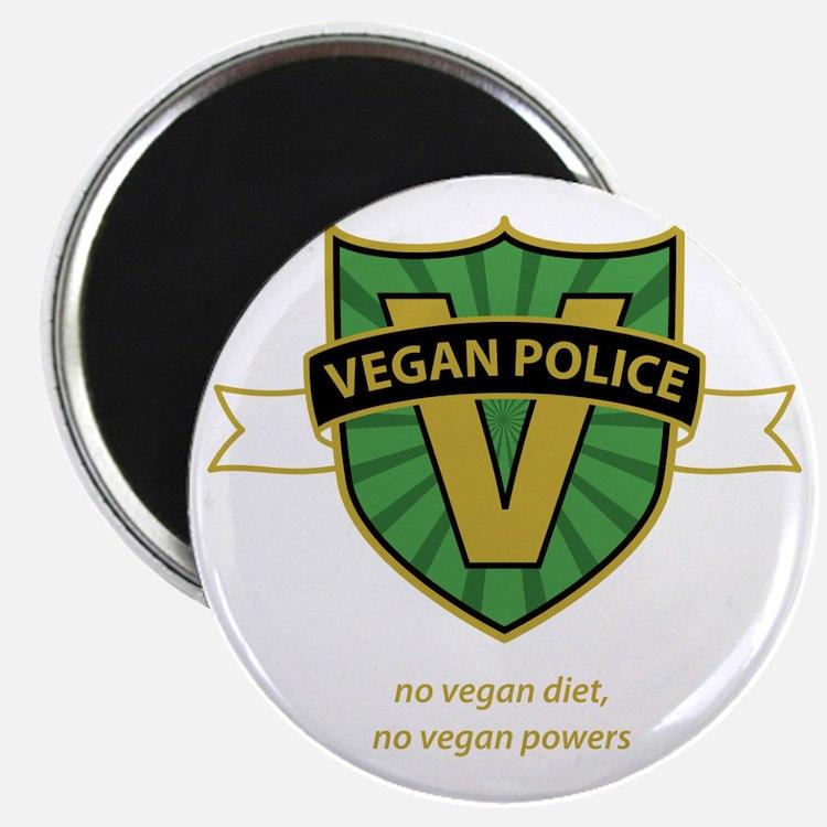 vegan police 3 Magnet