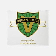 vegan police 3 Throw Blanket