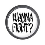 Wanna Fight? Wall Clock