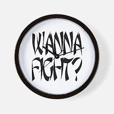 Wanna Fight? Wall Clock