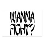 Wanna Fight? Postcards (Package of 8)