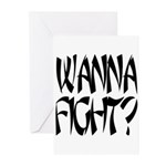 Wanna Fight? Greeting Cards (Pk of 10)