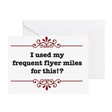 frequentflyerLight Greeting Card