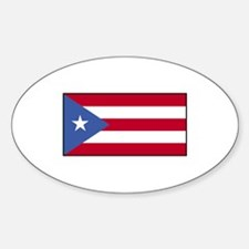 Puerto Rico Flag Oval Decal