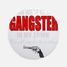 gangster(blk) Round Ornament
