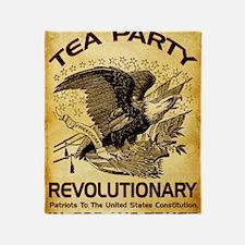 Tea Party Revolutionary Throw Blanket