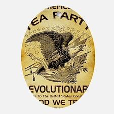 Tea Party Revolutionary Oval Ornament