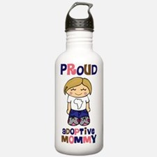proud adoptive mommy s Water Bottle