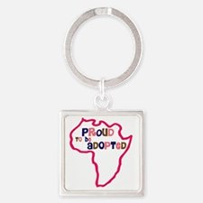 proud to be adopted girl africa ou Square Keychain