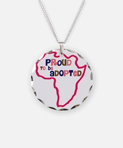 proud to be adopted girl afr Necklace