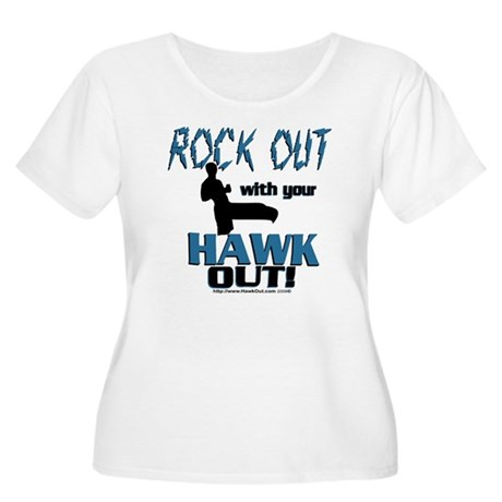 Rock Out With Women's Plus Size Scoop Neck T-Shirt