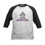 All Stressed Out! Kids Baseball Jersey