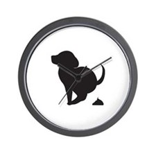 Doggy Accident Wall Clock