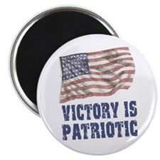 "Victory is Patriotic - Weathered 2.25"" Magnet (10"