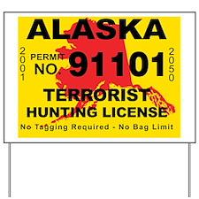 terrorist-hunting-license-AK Yard Sign
