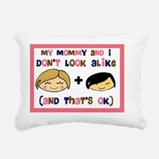 Asian GIRL my mommy and  Rectangular Canvas Pillow