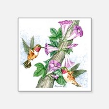 "Humming Birds - Tile Square Sticker 3"" x 3"""