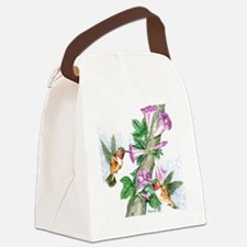 Humming Birds - Tile Canvas Lunch Bag