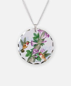 Humming Birds - Tile Necklace