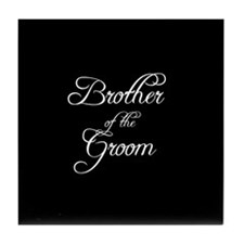 Brother Of Groom - Formal Tile Coaster