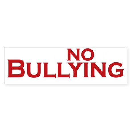 say no to bullying_dark Sticker (Bumper)