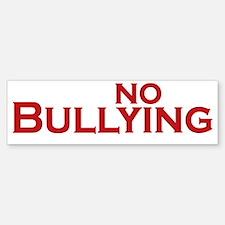 say no to bullying_dark Sticker (Bumper)