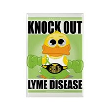 Knock-Out-Lyme-Disease Rectangle Magnet