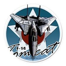F-14-Tomcat Round Car Magnet