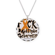 Fuck-Multiple-Sclerosis Necklace Circle Charm