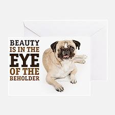 RD Pug Beauty Landscape Greeting Card