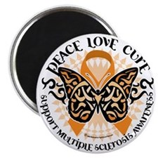 Multiple-Sclerosis-Butterfly-Tribal-2 Magnet