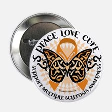 "Multiple-Sclerosis-Butterfly-Tribal-2 2.25"" Button"