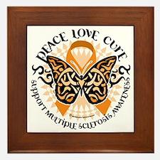 Multiple-Sclerosis-Butterfly-Tribal-2 Framed Tile